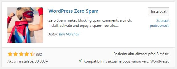 WordPress zero spam plugin